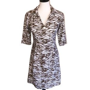 Jude Connally Megan Abstract Animal Print Dress S